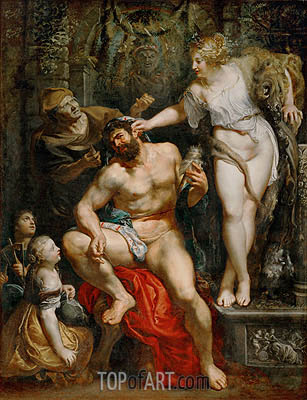 Hercules and Omphale, c.1602/05 | Rubens| Painting Reproduction