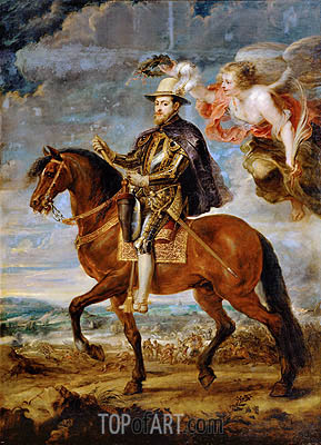 Felipe II on Horseback, 1628 | Rubens| Painting Reproduction