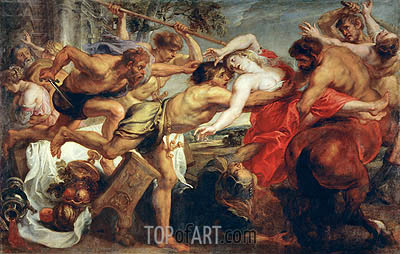 The Rape of Hippodame (Lapiths and Centaurs), c.1636/38 | Rubens| Gemälde Reproduktion