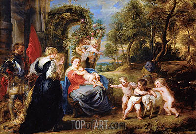 Rest on the Flight from Egypt with Saints, c.1635 | Rubens| Painting Reproduction