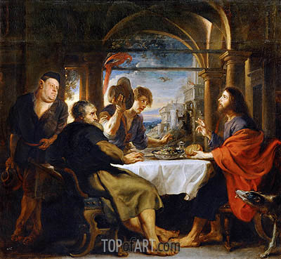 The Dinner at Emmaus, 1638 | Rubens| Painting Reproduction