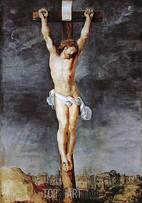 Christ on the Cross, c.1592/33 | Rubens | Gemälde Reproduktion