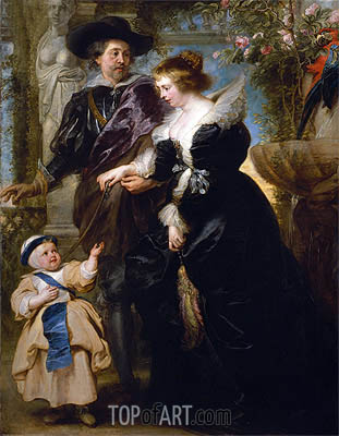 Rubens | Rubens, His Wife Helena Fourment and One of Their Childrens the Infant Jesus to Saint Francis, c.1635/40