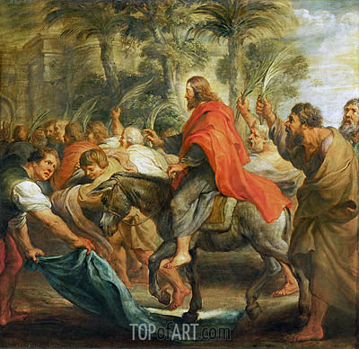 Christ's Entry into Jerusalem, 1632 | Rubens | Gemälde Reproduktion