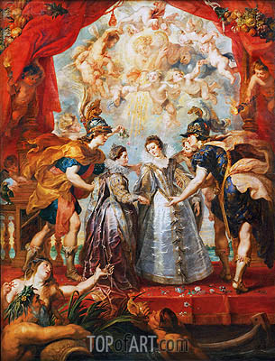 Exchange of the Two Princesses of France and Spain, 9th November 1615 (The Medici Cycle), c.1621/25 | Rubens | Gemälde Reproduktion