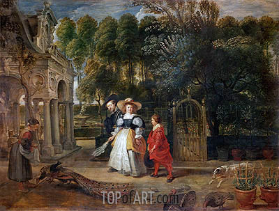 Rubens and His Wife Helene Fourment in the Garden, undated | Rubens | Painting Reproduction