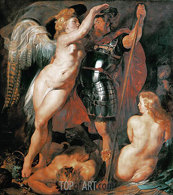 The Coronation of the Hero of Virtue, 1612 | Rubens | Painting Reproduction