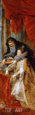 Infanta Isabella Clara Eugenia with Saint Elisabeth of Hungary (Right Wing of the Ildefonso Altar), c.1630/32 | Rubens| Painting Reproduction