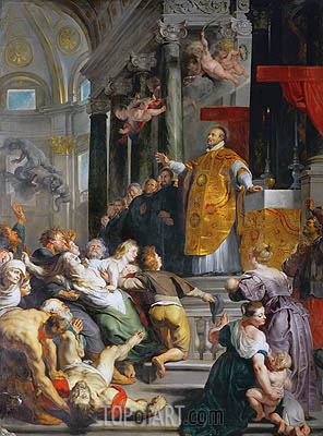 The Miracle of Saint Ignatius Loyola, c.1617/18 | Rubens| Painting Reproduction