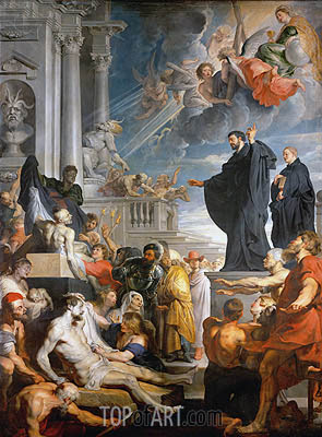 The Miracles of Saint Francis Xavier, c.1617/18 | Rubens | Painting Reproduction