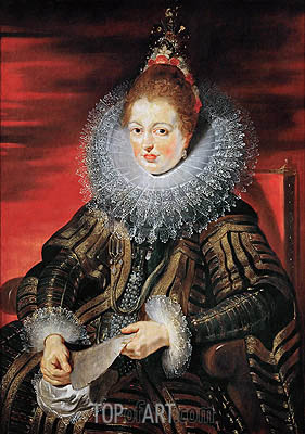 Infanta Isabella Clara Eugenia, Wife of Archduke Albrecht VII, c.1613/15 | Rubens| Painting Reproduction