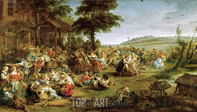 A Church Festival or Weding in a Village, c.1635/38 | Rubens | Painting Reproduction