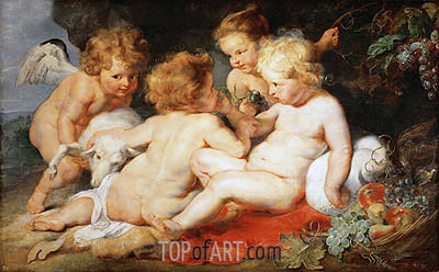 Infant Christ with John the Baptist and Two Angels, c.1615/20 | Rubens| Painting Reproduction