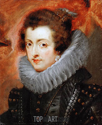 Isabella of Bourbon, 1629 | Rubens | Painting Reproduction