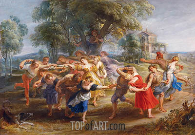 Peasant Dance, c.1636/40 | Rubens| Painting Reproduction