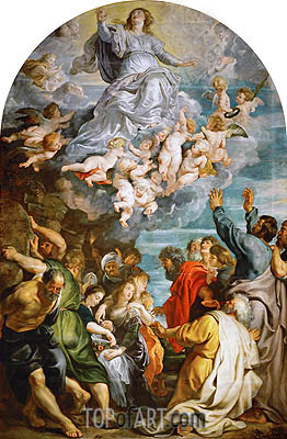 Assumption of Saint Mary, c.1611/14 | Rubens| Gemälde Reproduktion