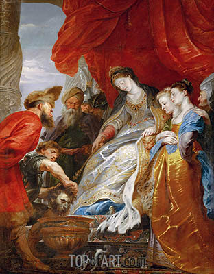 Thomiris, Queen of the Scyths, Orders the Head of Cyrus Lowered into a Vessel of Blood, undated | Rubens | Gemälde Reproduktion