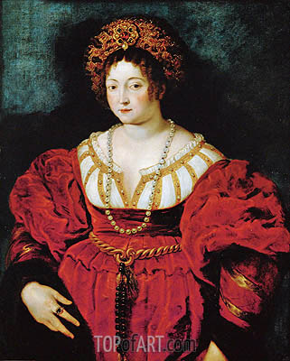 Isabella d'Este (after Titian), c.1605 | Rubens | Painting Reproduction