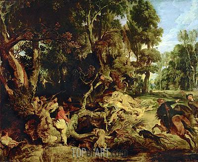 Rubens | Wild Boar Hunt, c.1615/20