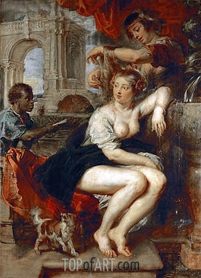 Bathsheba at the Fountain, c.1635 | Rubens | Painting Reproduction