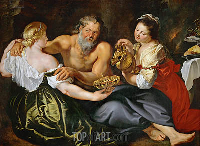 Lot and His Daughters, undated | Rubens| Painting Reproduction