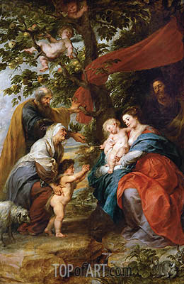 The Holy Family Resting under an Apple Tree (Ildefonso Altar), c.1630/32 | Rubens | Painting Reproduction