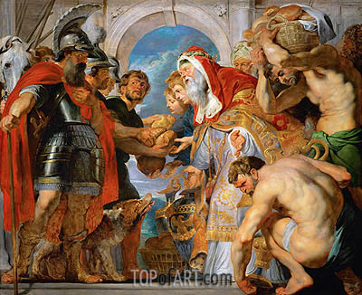 Abraham and Melchizedek, c.1615/18 | Rubens | Painting Reproduction