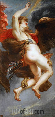 The Rape of Ganymede, c.1636/38 | Rubens | Gemälde Reproduktion