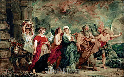 Rubens | Lot and His Family Leaving Sodom, 1625