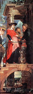 Rubens | Visitation (Descent from Cross Altarpiece - Left Panel), c.1611/14