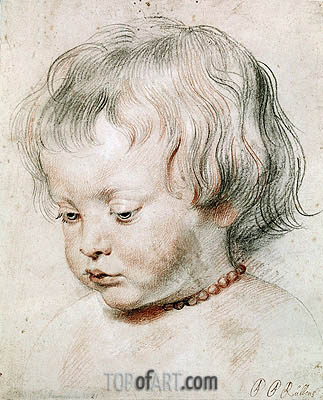 Portrait of Artist Son Nicolas, 1621 | Rubens | Painting Reproduction