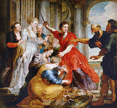 Achilles Discovered by Ulysses and Diomedes, c.1617 | Rubens | Painting Reproduction