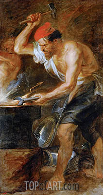 Vulcan Forging the Lightning of Jupiter, c.1636/38 | Rubens| Painting Reproduction