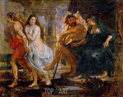 Orpheus and Euridice with Pluto and Proserpina, c.1636/38 | Rubens| Gemälde Reproduktion