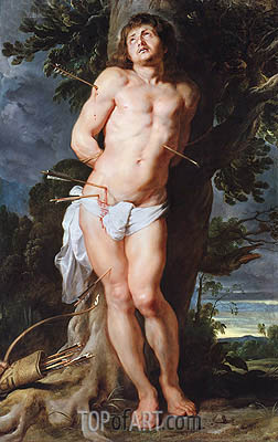 Saint Sebastian, c.1618 | Rubens | Gemälde Reproduktion
