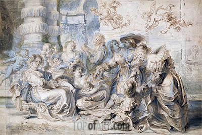 The Garden of Love (Right Part), undated | Rubens| Painting Reproduction