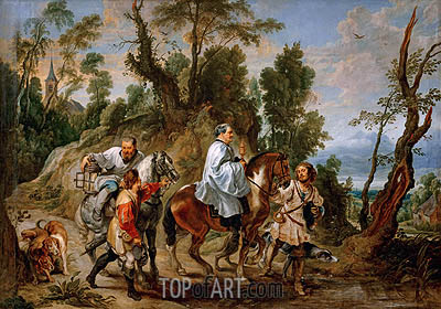 Act of Devotion by Rudolf I of Habsburg, b.1630 | Rubens | Painting Reproduction