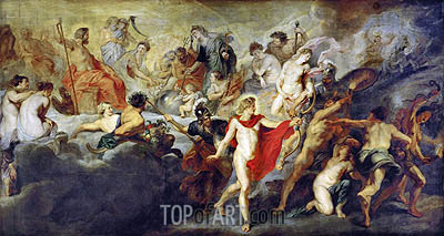 Council of the Gods, c.1622/25 | Rubens | Painting Reproduction