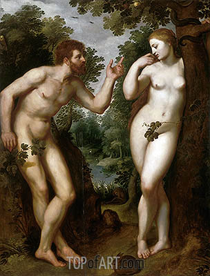 Adam and Eve, c.1599 | Rubens| Gemälde Reproduktion