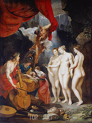 Education of Marie de Medici, c.1621/25 | Rubens | Painting Reproduction