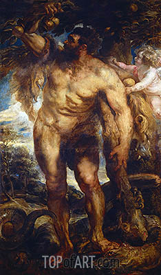 Hercules in the Garden of the Hesperides,  c.1638 | Rubens | Painting Reproduction