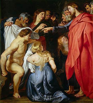 Raising of Lazarus, undated | Rubens| Gemälde Reproduktion