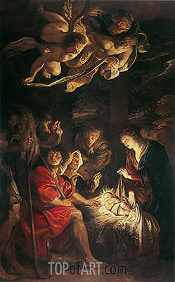 Adoration of the Shepherds, 1608 | Rubens | Gemälde Reproduktion