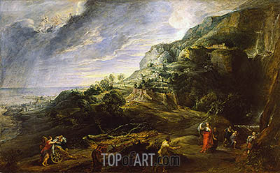 Landscape with Ulysses and Nausicaa, c.1625/27 | Rubens| Painting Reproduction