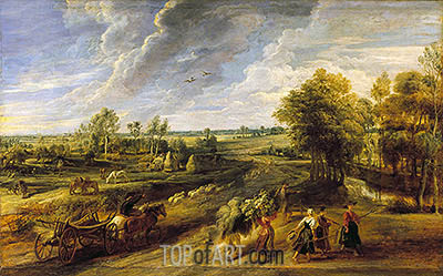 Return from the Harvest, c.1635 | Rubens | Painting Reproduction