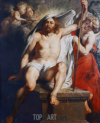 Resurrected Christ Triumphant, c.1616 | Rubens | Painting Reproduction