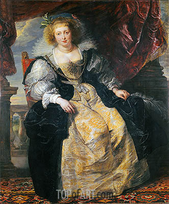 Helene Fourment in Her Wedding Dress, c.1630 | Rubens| Gemälde Reproduktion