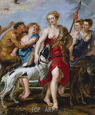 Diana and Her Nymphs Departing for the Hunt, c.1615 | Rubens| Painting Reproduction