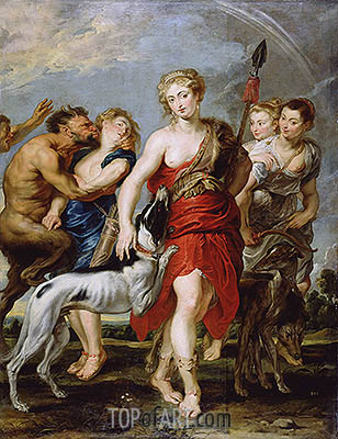 Diana and Her Nymphs on the Hunt, c.1615 | Rubens | Painting Reproduction