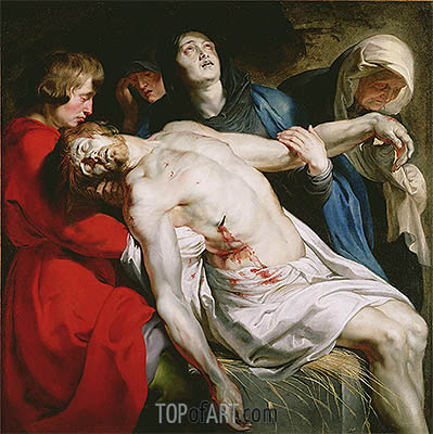 The Entombment, c.1612 | Rubens| Gemälde Reproduktion